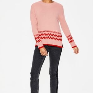 Boden Theodora Fair Isle Sweater size L